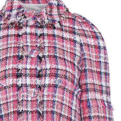 fringe detail check tweed jacket & fringe detail check tweed skirt